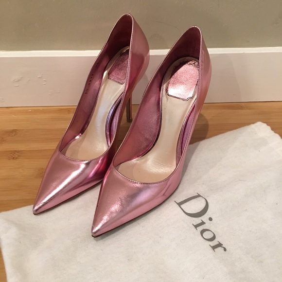 christian dior pink shoes